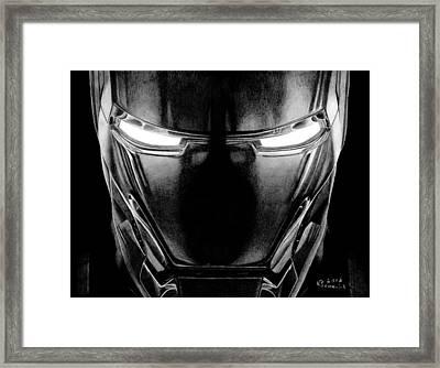 Hero In Shining Iron Framed Print by Kayleigh Semeniuk