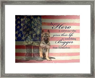 Hero Framed Print by Kari Brooks