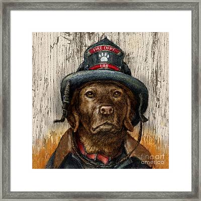 Hero Lab - Chocolate Framed Print by Kathleen Harte Gilsenan