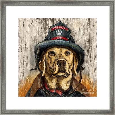 Hero Lab - Yellow Framed Print by Kathleen Harte Gilsenan