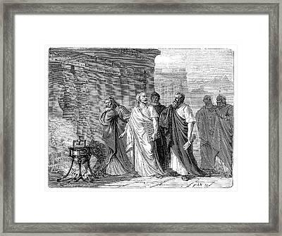 Hero Of Alexandria's Steam Engine Framed Print