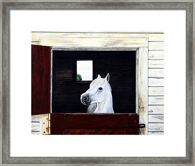 Framed Print featuring the painting Hero by Ron Haist