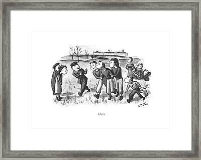 Hero Framed Print by William Steig