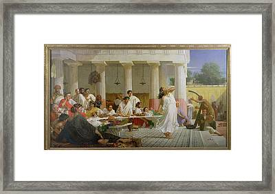 Herods Birthday Feast, 1868 Oil On Canvas Framed Print by Edward Armitage