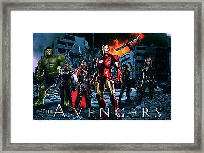Heroes 2 Framed Print by Christian Colman