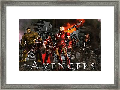 Heroes 3 Framed Print by Christian Colman