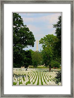 Heroes And A Monument Framed Print by Patti Whitten