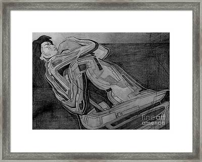 Heroes Drawing Framed Print