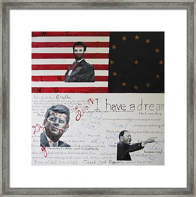 Heroes Framed Print by Lawrence  Dugan