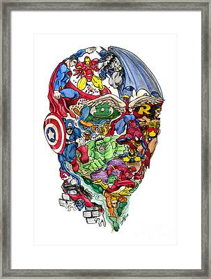 Heroic Mind Framed Print by John Ashton Golden