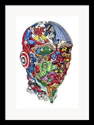 Comic. Marvel Framed Prints