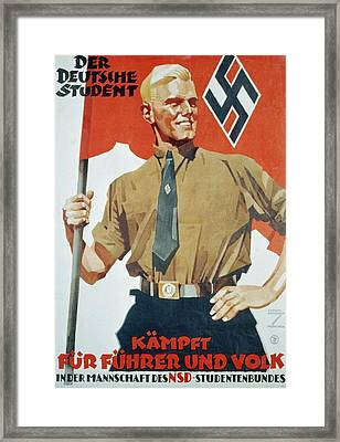Heroic Portrait Of Hitler Youth Framed Print