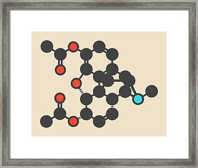 Heroin Molecule Framed Print