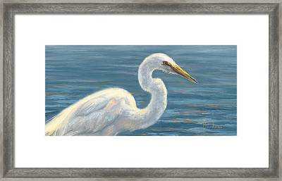 Heron Light Framed Print by Lucie Bilodeau
