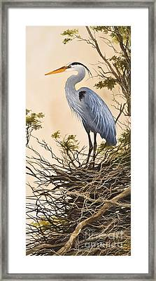 Herons Secluded Home Framed Print by James Williamson