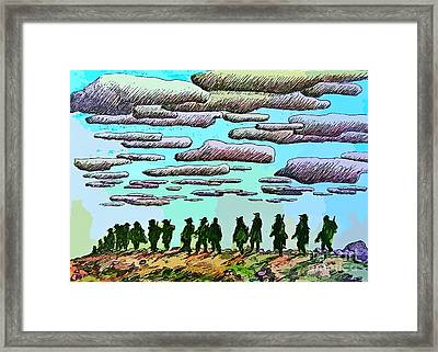 Heros All Framed Print by John Malone