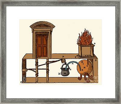 Heros Door-opening Apparatus Framed Print by Photo Researchers