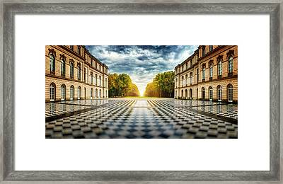 Herrenchiemsee Palace. Framed Print by Juan Pablo De