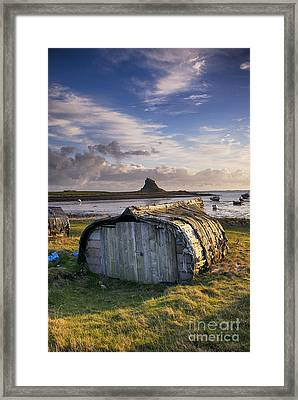 Herring Boat Hut Lindisfarne Hdr Framed Print by Tim Gainey