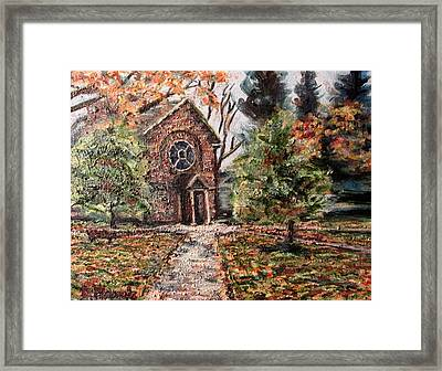 Herring Cole In Late September Framed Print by Denny Morreale