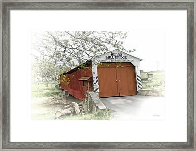 Herr's Mill Historic Bridge Framed Print by Dyle   Warren