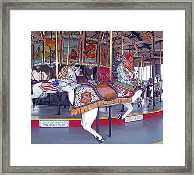 Herschell Spillman Armored Horse Framed Print