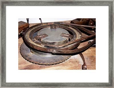 Herschel's Mirror Grinder-polisher Framed Print