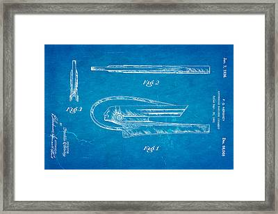 Hershey Automobile Radiator Ornament Patent Art 1936 Blueprint Framed Print by Ian Monk