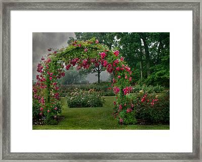 Hershey Gardens Framed Print by Lori Deiter