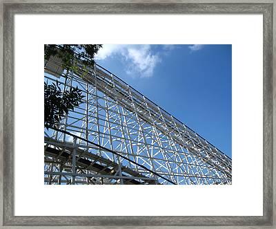 Hershey Park - Comet Roller Coaster - 12121 Framed Print by DC Photographer