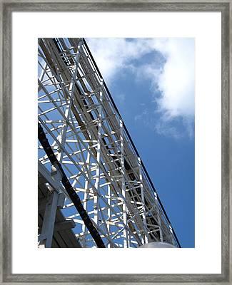 Hershey Park - Comet Roller Coaster - 12122 Framed Print by DC Photographer