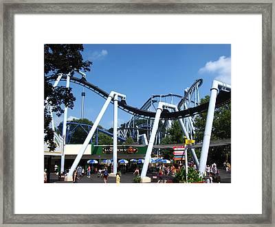 Hershey Park - Great Bear Roller Coaster - 121210 Framed Print by DC Photographer
