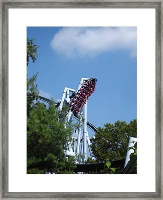 Hershey Park - Great Bear Roller Coaster - 121212 Framed Print by DC Photographer