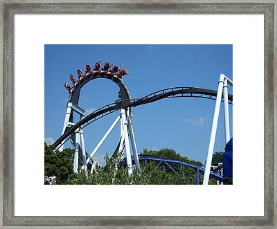 Hershey Park - Great Bear Roller Coaster - 121213 Framed Print by DC Photographer