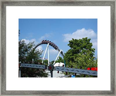 Hershey Park - Great Bear Roller Coaster - 121214 Framed Print by DC Photographer