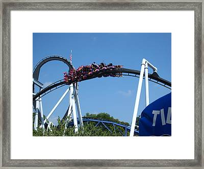 Hershey Park - Great Bear Roller Coaster - 121215 Framed Print by DC Photographer