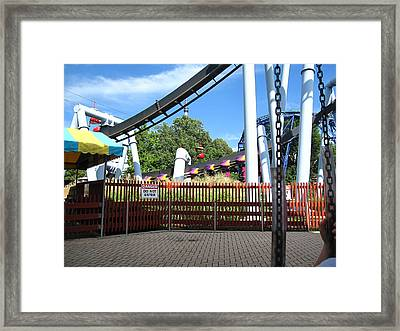 Hershey Park - Great Bear Roller Coaster - 121217 Framed Print by DC Photographer