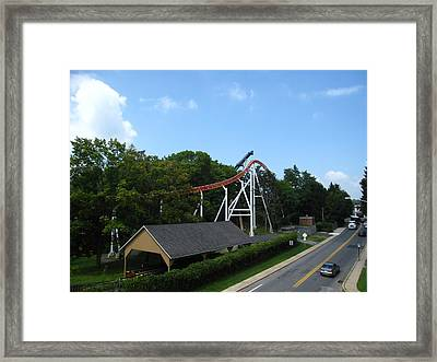 Hershey Park - Great Bear Roller Coaster - 12124 Framed Print by DC Photographer