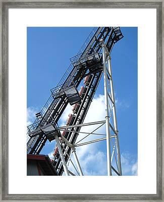 Hershey Park - Sidewinder Roller Coaster - 12121 Framed Print by DC Photographer