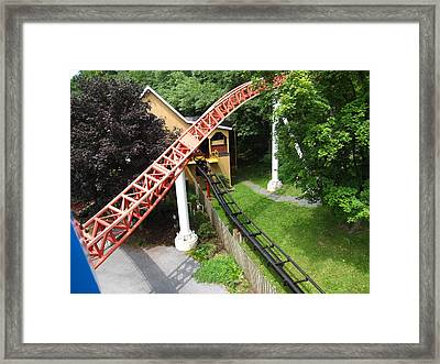 Hershey Park - Storm Runner Roller Coaster - 12121 Framed Print by DC Photographer