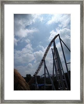 Hershey Park - Storm Runner Roller Coaster - 12122 Framed Print by DC Photographer