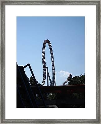 Hershey Park - Storm Runner Roller Coaster - 12124 Framed Print by DC Photographer
