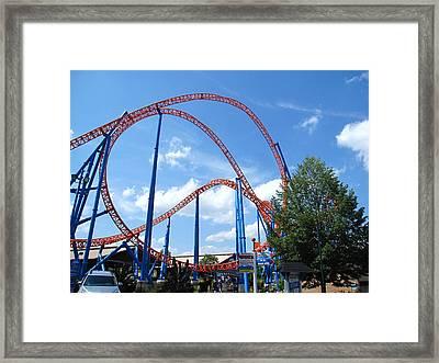 Hershey Park - Storm Runner Roller Coaster - 12125 Framed Print by DC Photographer