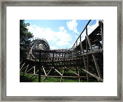 Hershey Park - Wildcat Roller Coaster - 12123 Framed Print