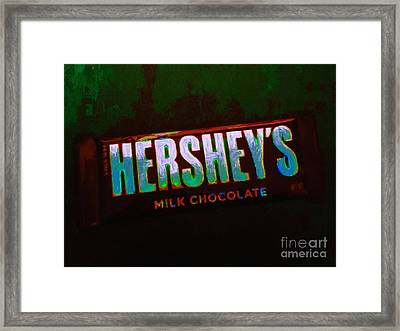 Hershey's Chocolate Bar Framed Print by Wingsdomain Art and Photography