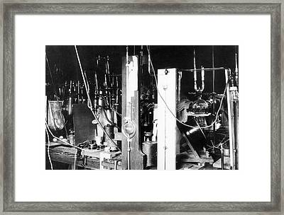 Hertha Sponer's Nitrogen Apparatus Framed Print