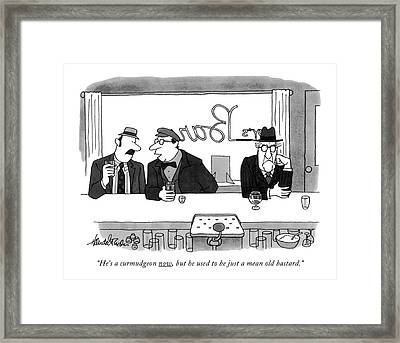He's A Curmudgeon Now Framed Print by J.B. Handelsman