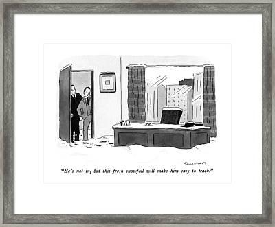 He's Framed Print by Danny Shanahan