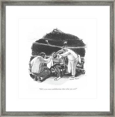 He's Even More Ambidextrous Than What You Said Framed Print by Garrett Price