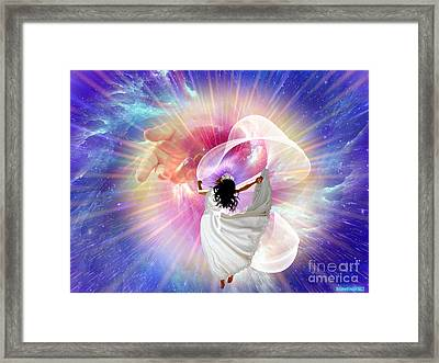 He's Here Framed Print by Dolores Develde